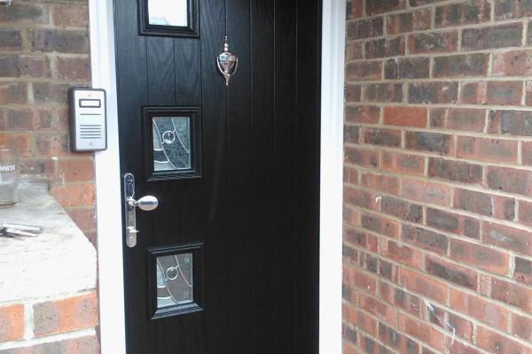 black 3 square Composite Door 3