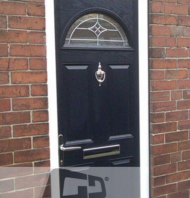 black 4 panel 1 arch Composite Door 3