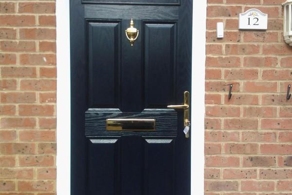 black 4 panel 1 arch Composite Door 6