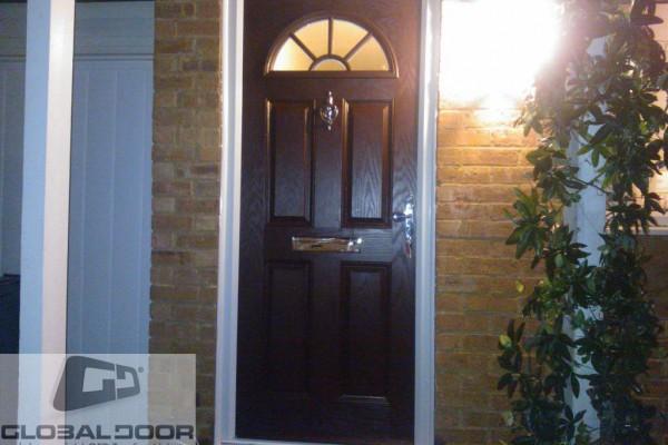 black 4 panel 1 suburst Composite Door