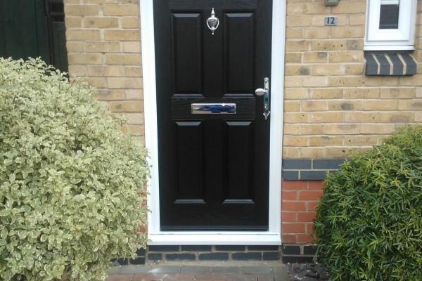 black 4 panel 1 sunburst composite door 3