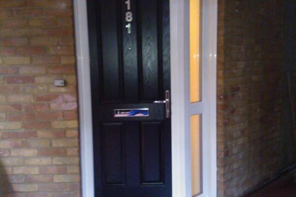 black 4 panel Composite Door 5