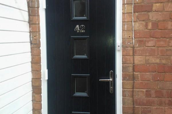 black 4 square composite door 2