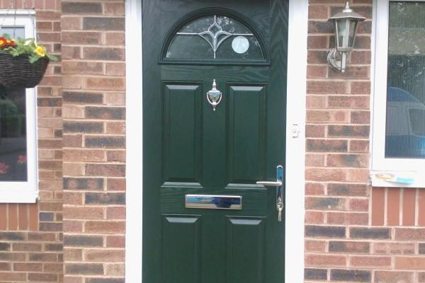 green 4 panel 1 arch Composite Door 3