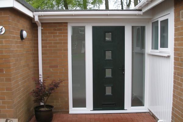 green 4 square Composite Door 3