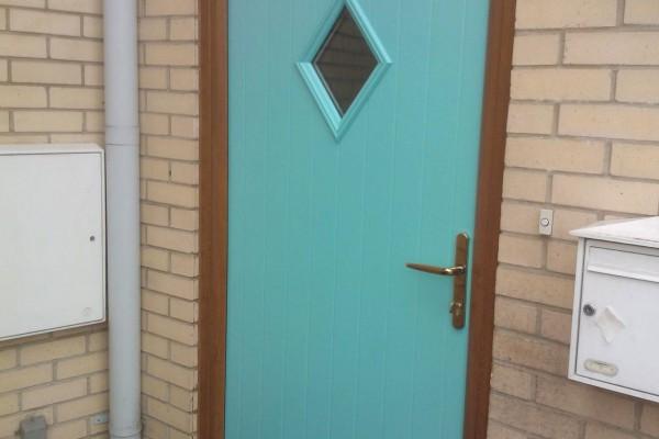 green diamond Composite Door