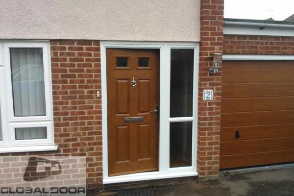 oak 4 panel 2 square Composite Door 2