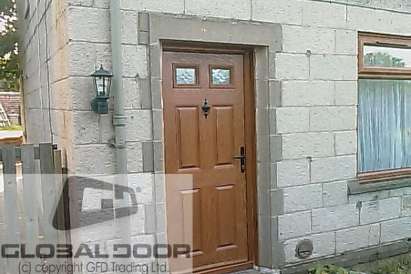 oak 4 panel 2 square Composite Door