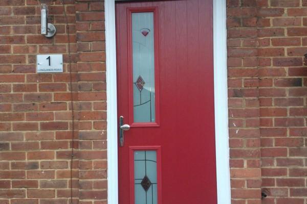 red twin side Composite Door