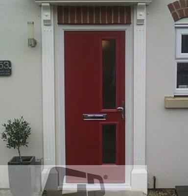 red twin side composite door 2