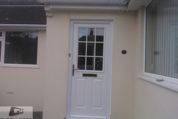 white 2 panel 1 grill Composite Door