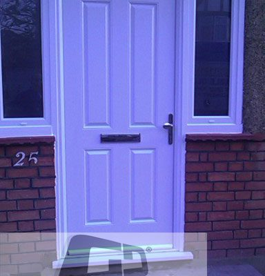 white 4 panel Composite Door