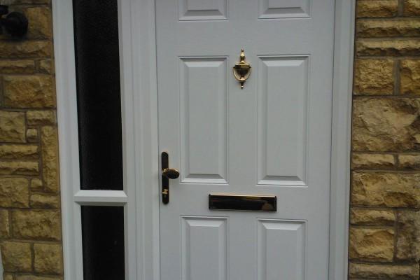 white 6 panel Composite Door side panel