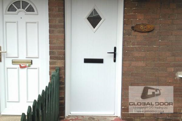 white diamond Composite Door