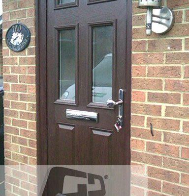 woodgrain 2 panel 4 square Composite Door 4