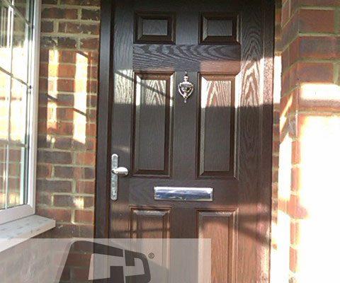 woodgrain 6 panel Composite Door