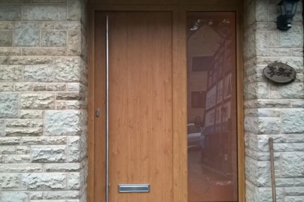 Irish Oak Ancona Solid with Side Panel