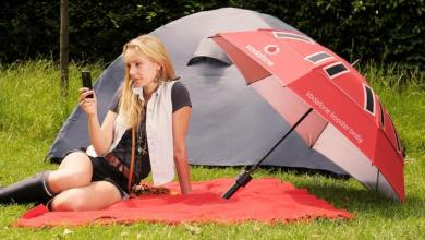 Photo of Vodafone Carbon Fibre Booster Brolly