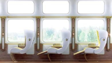 Photo of Futuristic Eurostar Interior Design