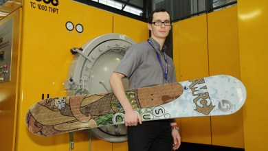Photo of Meet the Biocomposites Snowboard Made from Leftover Cashew Nuts