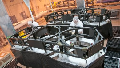 Photo of Composite Wing Assemblies Completed for NASA Space Telescope Project