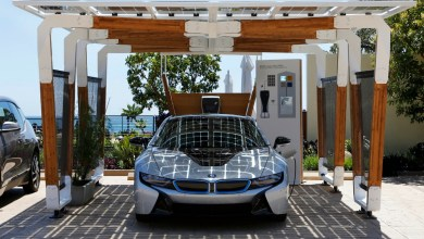 Photo of BMW's Carbon Fibre Clad Solar Powered Carport Concept