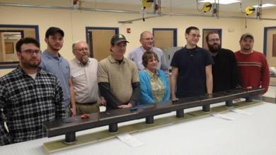 Photo of Great Bay College Students Build Carbon Fibre Bridge
