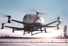 Photo of Ehang's Carbon Fibre Air Taxi Take Flight in the USA for the First Time