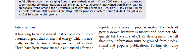 Compost Science & Utilization, la revista científica de referencia sobre compostaje