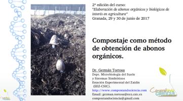 Clase «Compostaje como método para obtener abonos orgánicos» (2ª edición, julio de 2017)