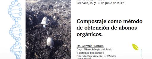 """Clase """"Compostaje como método para obtener abonos orgánicos"""" (2ª edición, julio de 2017)"""