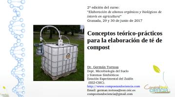 Clase «Conceptos teórico-prácticos para hacer té de compost» (2ª edición, julio de 2017)