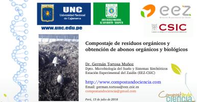 Charla Compostaje y obtención de abonos orgánicos y biológicos, Perú