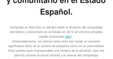 Revisión de la situación del compostaje descentralizado en el Estado Español
