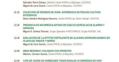 Jornada en el IFAPA sobre Microorganismos relacionados con la nutrición vegetal (14 de junio de 2019, Almería, España)