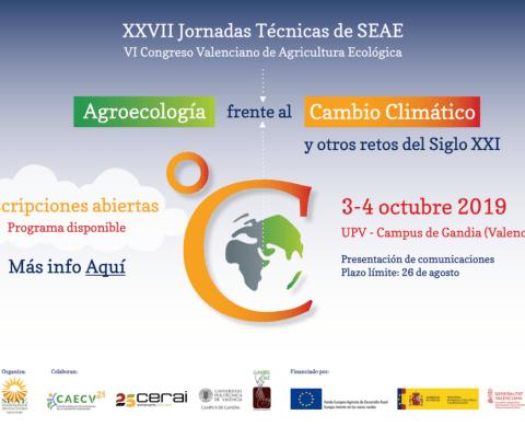 XXVII Jornadas Técnicas de SEAE y VI Congreso Valenciano de Agricultura Ecológica (Valencia, 03-04 de octubre de 2019)