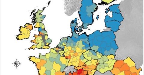 Mapa del contenido de cobre en Europa