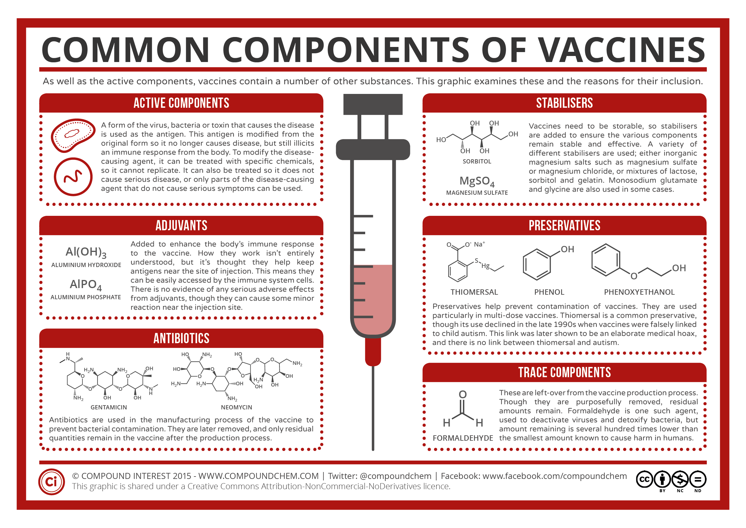 A Summary Of Common Vaccine Components
