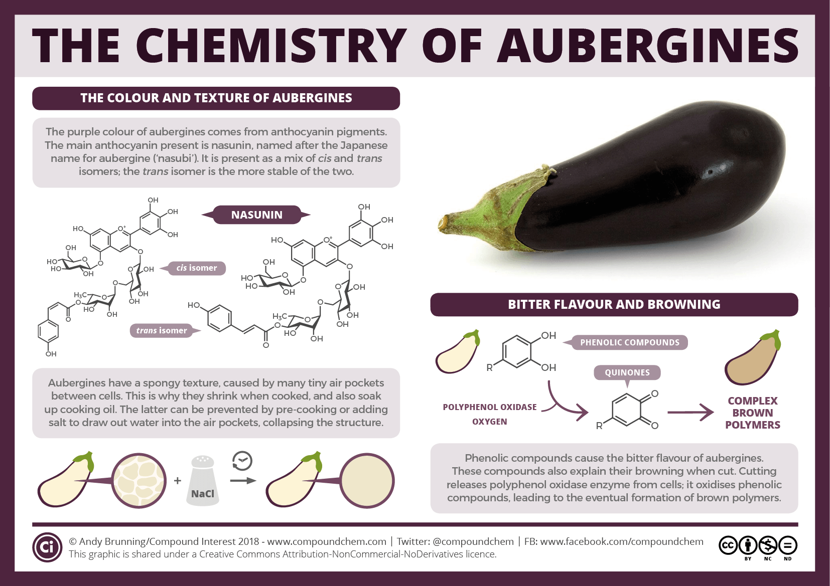 Aubergine colour, bitterness & browning | Compound Interest