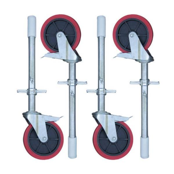 rueda de goma andamio de aluminio