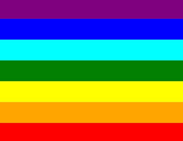 ¿Por qué tiene los colores del arcoíris?