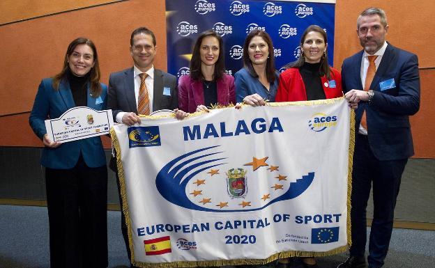La delegación malagueña en Budapest