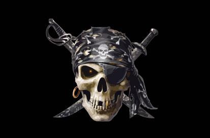 Bandera Pirata con pañuelo