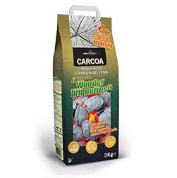 Saco de carbon barbacoa