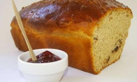 Pan dulce de kéfir y nueces