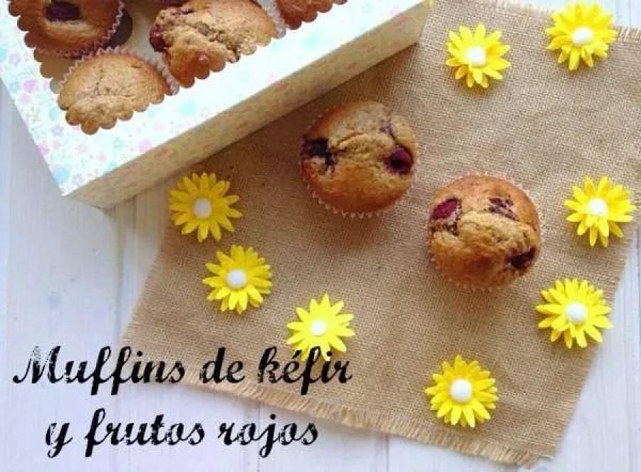 Muffins de kéfir y frutos rojos