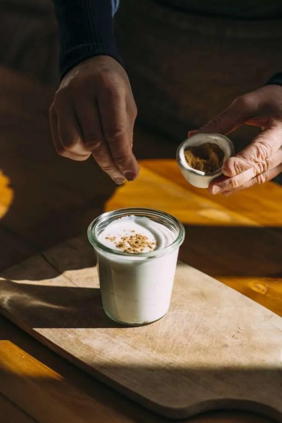 Kéfir de Agua con leche de coco y canela