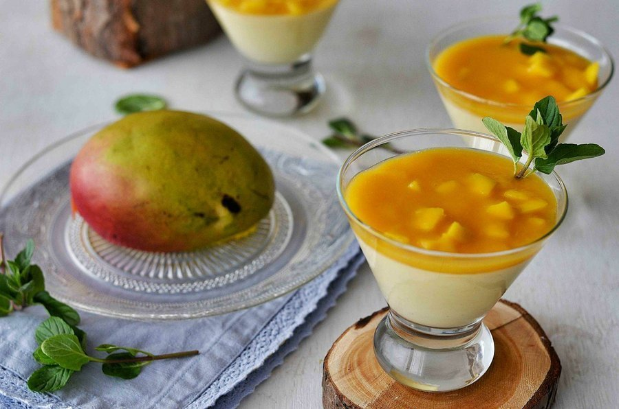 Panacota de Mango y Kéfir de Leche