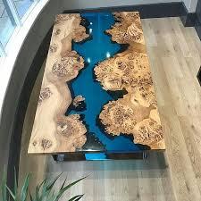 curso de mesas com resina