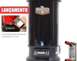 MICROCERVEJARIA BREWHOME LINK 20 BLACK COMPOSIÇÃO DA BREWHOME LINK 20 - Garantia de 2 anos > Máquina elétrica de brassagem para produção de cerveja artesanal (parte quente do processo de produção chamada Brassagem) > Trocador de calor BrewCooler20, engates rápidos e mangueira de interligação do mosto. > Manual de instruções e brassagem (arquivo digital) > Embalagem BrewHome - Guarde o kit todo com segurança e praticidade! B2BREW INDUSTRIA E COMERCIO LTDA